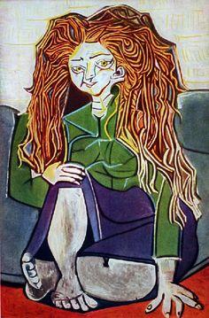 Picasso - Portrait de Madame H.P., 1952 C'est le portrait d'Hélène Parmelin