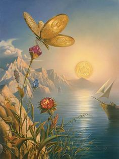 Title : Treasure Island. I'm a fan of the works of Vladimir Kush. You will see quite a bit of his work on this board.