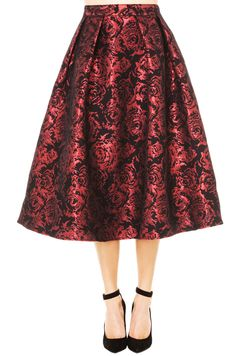 1a54560de6 Be the badass of the ball in this embellished midi. AKIRA Festive Rose  Skirt in