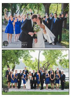 Wedding Party - fun and relaxed wedding party photography - blue wedding colors - Endless Images Photography Photo-Blog: {M & J) La Crosse Wisconsin Wedding Photographer