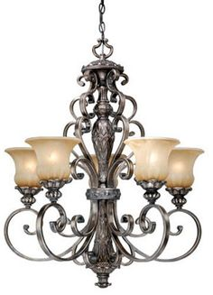 Tuscan Style Chandelier Carre Bronze Cottage Grove Tuscan Three