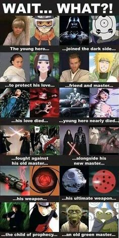 NARUTO SHIPPUDEN with STAR WARS.....!! Credit to the original owner