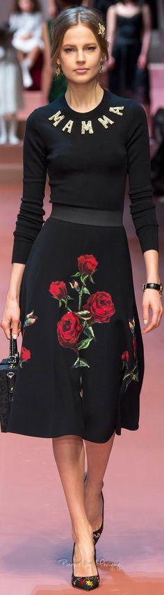 Dolce & Gabbana.Fall 2015. La falda!