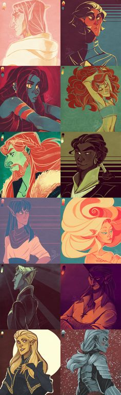TES Color Palette Dump by the-Orator on DeviantArt. I was attracted to this work firstly for its numerous character references. I love the difference in coloring of each panel and that for the most part each one sticks to a particular range of colors. The diversification and interest in the style of the characters anatomy results in a source of a great deal of inspiration when it comes to writing.