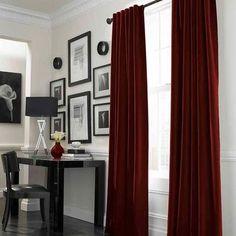 velvet curtains light