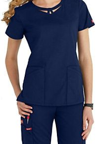 Dickies EDS Signature Peek-a-boo Neckline Scrub Tops Scrubs Outfit, Scrubs Uniform, Stylish Scrubs, Medical Uniforms, Healthcare Uniforms, Cute Scrubs, Medical Scrubs, Nursing Scrubs, Womens Scrubs