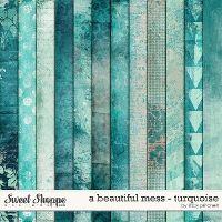 A Beautiful Mess - Turquoise by Libby Pritchett