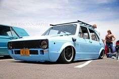 Never thought I would drool over an old 4 door VW Rabbit. Volkswagen Golf Mk1, Vw T1, Vw Mk1 Rabbit, Supercars, Car Camper, Sweet Cars, Motor Car, Cool Cars, Dream Cars