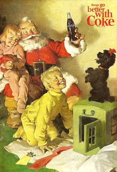 Coca-Cola Santa Claus And The Kids Coke - www.MadMenArt.com | Coca-Cola is more…