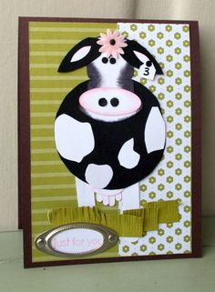 Cow punch art card>>>>I have to make this card!!