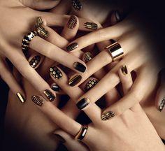 the magic black nail art