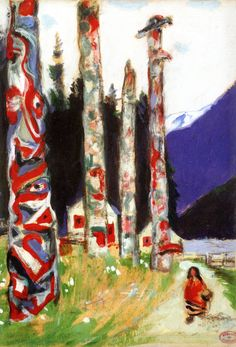 The Athenaeum - Totems (study for 'Le grand silence blanc) (Clarence Gagnon - )
