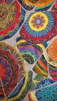 Close-up: Kaleidoscopic XXXIII: Shards by Paula Nadelstern, Bronx, New York.  Photo by The Plaid Portico