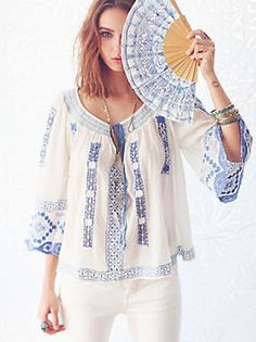Free People Silver Springs Embroidered Top, $168.00