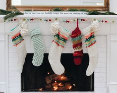 Christmas Stockings // Holiday Mantle