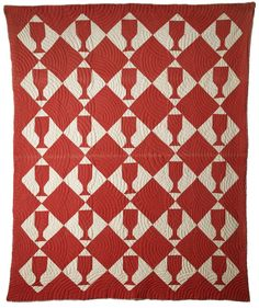 This quilt was made by slaves on the Mimosa Hall Plantation in Marshall Texas for the use of the Anglican bishop of New Orleans. - The American Museum in Britain