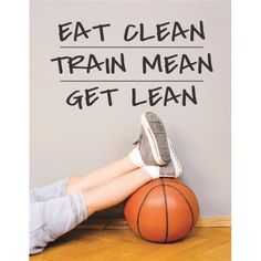 Custom Wall Decal : Eat Clean Train Mean Get Lean Sports Workout Exercise Fitness Motivation Quote Boy Girl Teen Man Women Fitness Motivation Photo, Fit Girl Motivation, Fitness Quotes, Workout Motivation, Sport Quotes, Girl Quotes, Workout Pictures, Fitness Pictures, Get Lean