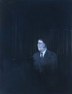 FRANCIS BACON 7 ITEMS Man in Blue II, 1954 Medium Oil on canvas Dimensions 152 x 116.5 cm jpg (629×827)