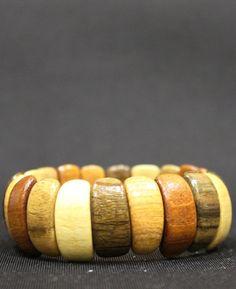 Разноцветный мини браслет из дерева вбр590