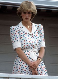The Princess at a polo match in 1983