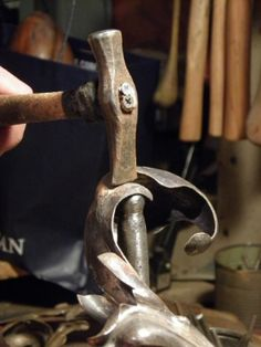 artistic metal repousse and chiseling