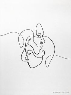 one line tattoo Printable Abstract One Line Pair, Minimal One Line Drawing, Abstract Line Art, Best Selling One Line Print, Single Drawing Art Print Outline Art, Outline Drawings, Easy Drawings, Couple Drawings, Hipster Drawings, Tumblr Drawings, Pencil Drawings, Abstract Face Art, Abstract Drawings