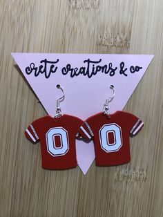 Check out our ohio state faux leather selection for the very best in unique or custom, handmade pieces from our shops. Paper Earrings, Diy Earrings, Fashion Earrings, Button Earrings, Diy Leather Earrings, Leather Jewelry, Leather Craft, Cameo Jewelry, Fabric Jewelry