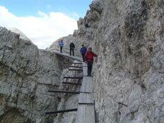 Rifugio Lorenzi - Ferrata Dibona (M. Cristallo)Cristallo is a mountain group in the Italian Dolomites, northeast of Cortina d'Ampezzo