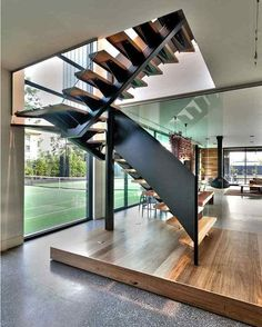 Staircases don't need to be boring!  Mentone House in #Australia designed by Jasmine McClelland Design #d_signers