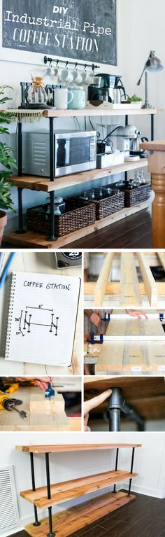 Easy to build DIY Industrial Pipe Coffee Station @istandarddesign