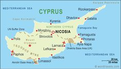 Cyprus Map, Cyprus Travel Maps from Word Travels