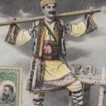 Romanian dancer in his traditional Romanian outfit back in 1907