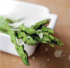 Grilled Asparagus & Scallions - Recipe from The Permaculture Kitchen by Carl Legge