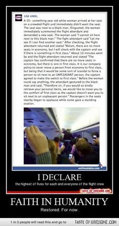 Faith In Humanity...this is awesome !!! Remember people, we are all the same in God's eyes !!!!