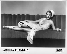 Aretha Franklin poses on a couch in this Atlantic Records press image.  Read more: http://www.rollingstone.com/music/pictures/aretha-franklin-through-the-years-20120323#ixzz3pFPfdMM4