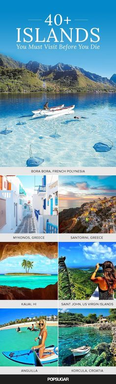 future travel There's a big world out there filled with islands just waiting for your arrival. We curated the 49 best islands across the globe that you absolutely must visit Destination Voyage, Travel Goals, Travel Tips, Travel Ideas, Travel Hacks, Travel Advice, Travel Tourism, Ak Travel, Budget Travel
