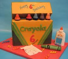 Cute Crayola Kids Cake