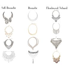 Distinguishing between the Dramatic influenced kibbe types' jewelry