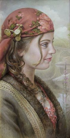 Maria Ilieva 1973 Born in Sofia, Bulgaria 1991 Graduated the National High School o. Maria Ilieva 1973 Born in Sofia, Bulgaria 1991 Graduated the National High School o. Mural Painting, Woman Painting, Art Magique, Gypsy Women, Painted Ladies, Beauty Art, Gypsy Style, Portrait Art, Woman Portrait