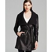 Elie Tahari Trench - Alexandra Belted Leather