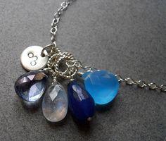 LEO Zodiac Necklace Blue Cluster Necklace http://www.etsy.com/listing/82796283/leo-zodiac-necklace-blue-cluster?ref=af_shop_favitem