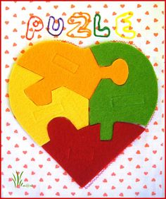 QUIET BOOK - Make a puzzle. But not a heart...