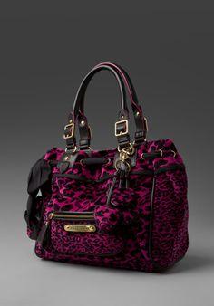 a5af094d1c257 Leopard Velour Day Dreamer Bag in vivid plum  228.00 Juicy Couture Purse