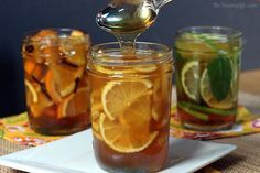 Honey Citrus Syrups-Use these syrups to soothe a cough or sore throat; or stir them into hot tea or water to add yummy flavor. http://www.theyummylife.com/recipes/297/Honey+Citrus+Syrups