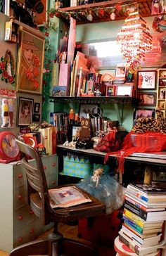 This is cute, but it is what my art space looks like now. I'm on a mission to clean and open the area!