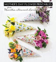 Dress up your Mother's Day bouquet with these Flower Printables From Martha Stewart Living