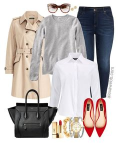 Plus Size Outfits with Red Flats - Plus Size Outfit Ideas - Plus Size Fashion for Women - alexawebb. Classy Outfits, Chic Outfits, Fashion Outfits, Womens Fashion, Summer Outfits, Work Outfits, Fashion Hacks, 50 Fashion, Fashion Flats