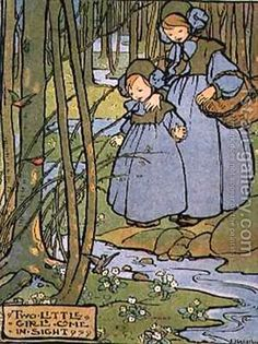 """""""Two Little Girls Came In Sight"""" - Florence Susan Harrison."""