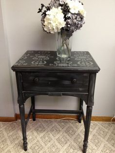 Vintage Sewing Machine Cabinet. Table
