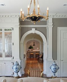 great neoclassic [empire] style chandelier | Brent Hull's home